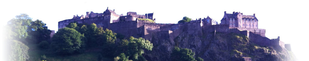 The craggy side of Edinburgh Castle